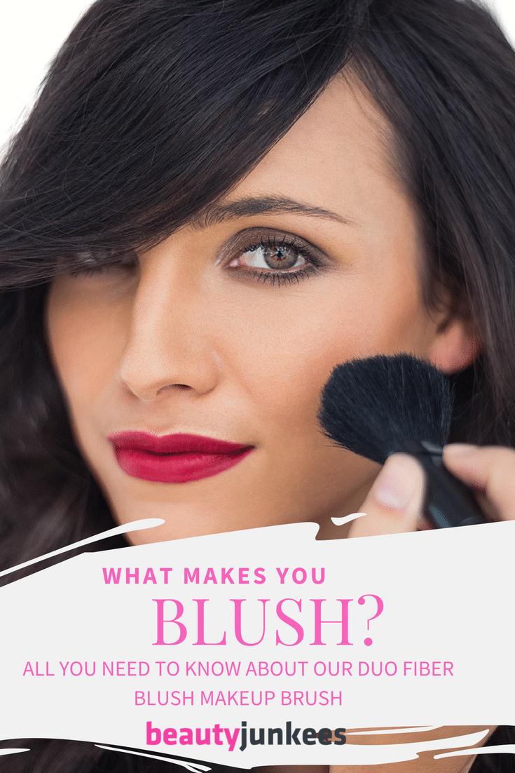 duo fiber blush makeup brush