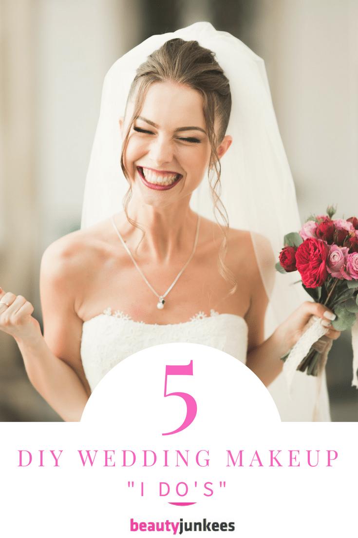 5 DIY Wedding Day Makeup I Do's